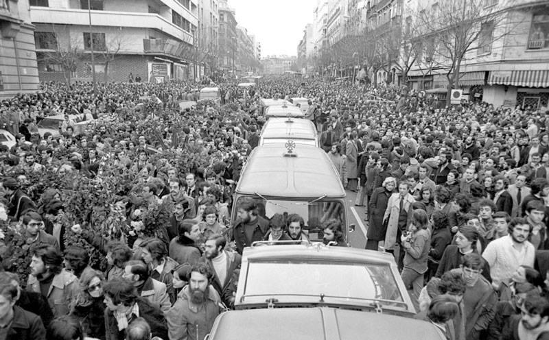 Entierro de las víctimas de los asesinatos de Atocha